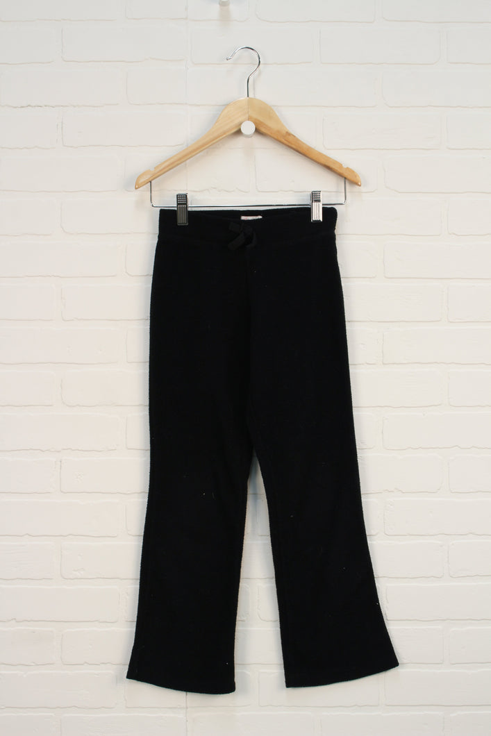 Black Fleece Pants (Size M/7-8)