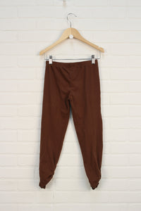 Brown Ruched Leggings (Size 10)