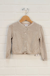 Champagne + Gold Cardigan (Size 2T)