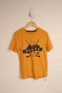 School Bus Yellow Graphic T-Shirt (Size L/9-10)