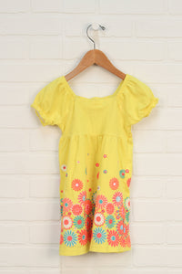 Yellow + Hot Pink Floral Dress (Size 5)