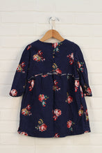 Navy Floral Dress (Size 4)