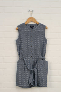 Chambray Pintuck Romper (Size L/10-11)