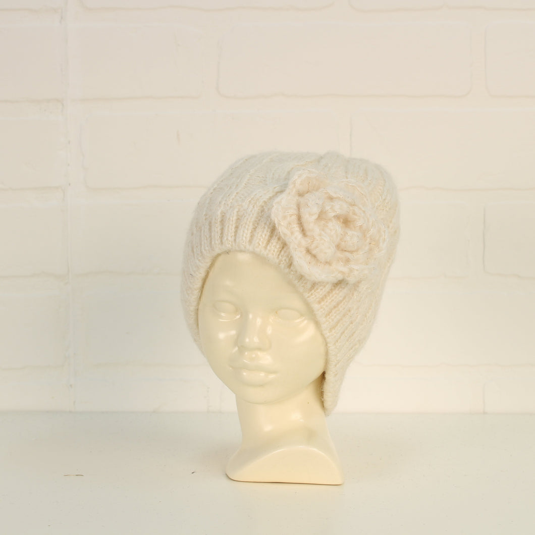 Cream + Gold Knit Hat (O/S Toddler-Preschooler)