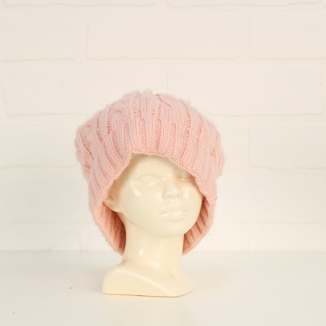 Blush Knit Toque (Size 12-24M)