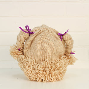 Beige Cabbage Patch Doll Hat (O/S Toddler-Preschooler)