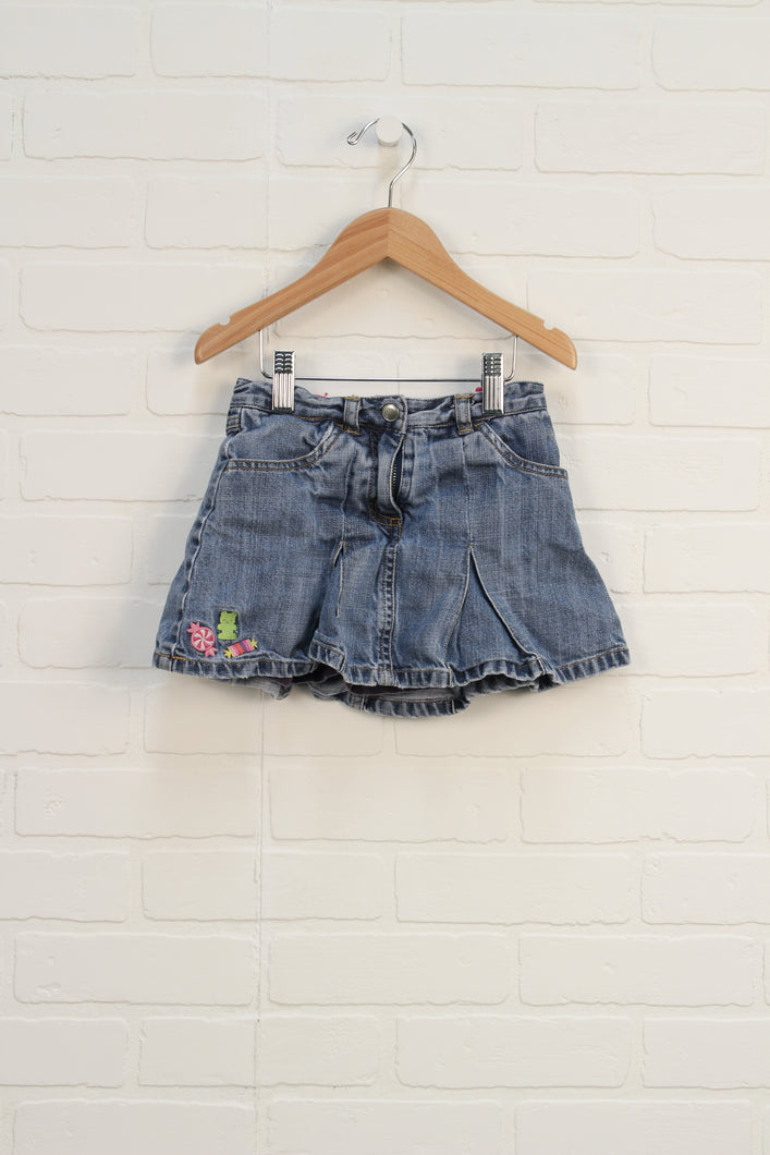 Vintage Wash Pleated Skort (Size 4)
