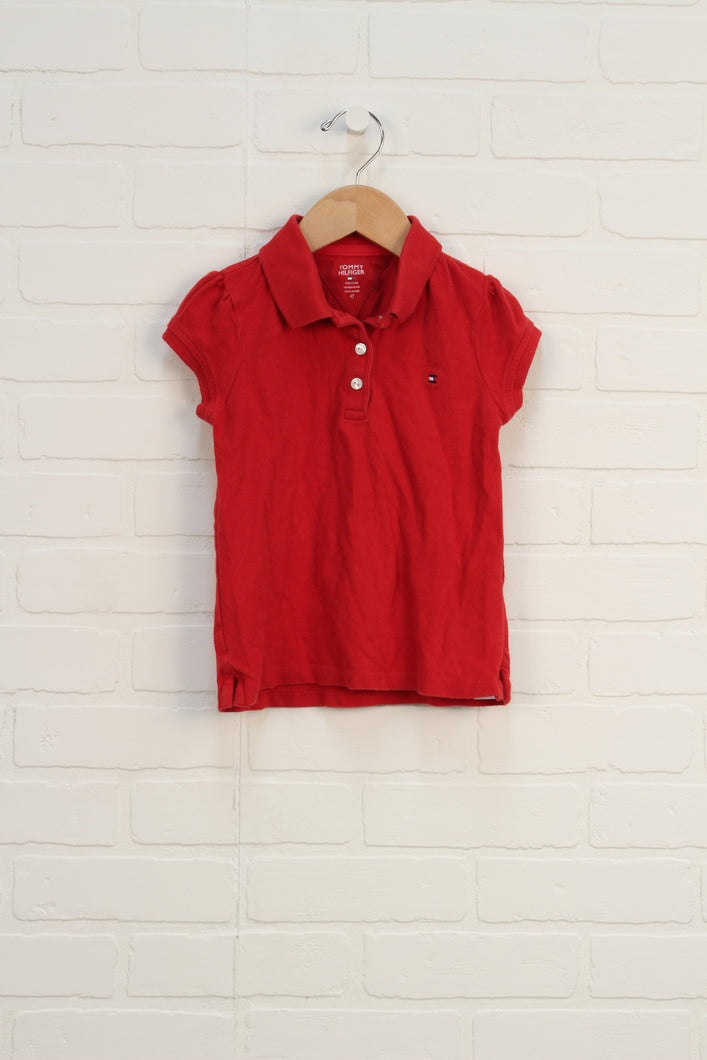 Red Cap Sleeve Polo (Size 4T)