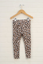 Beige Sparkle Animal Print Leggings (Size 4T)