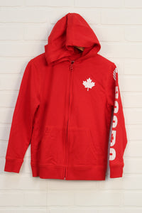 Red + White Hoodie (Size M/7-8)