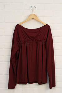 NWT Fabletics Burgundy Top (Women's Size XS)