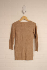 Champagne Sweater Dress (Size 5)