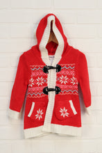 Red + Cream Pixie Hood Sweater (Size 18M)