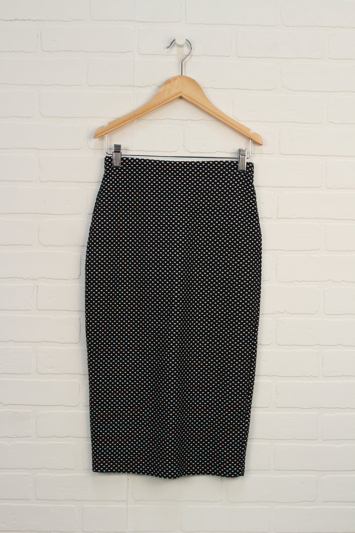 Black + White Pencil Skirt (Women's Size 2)