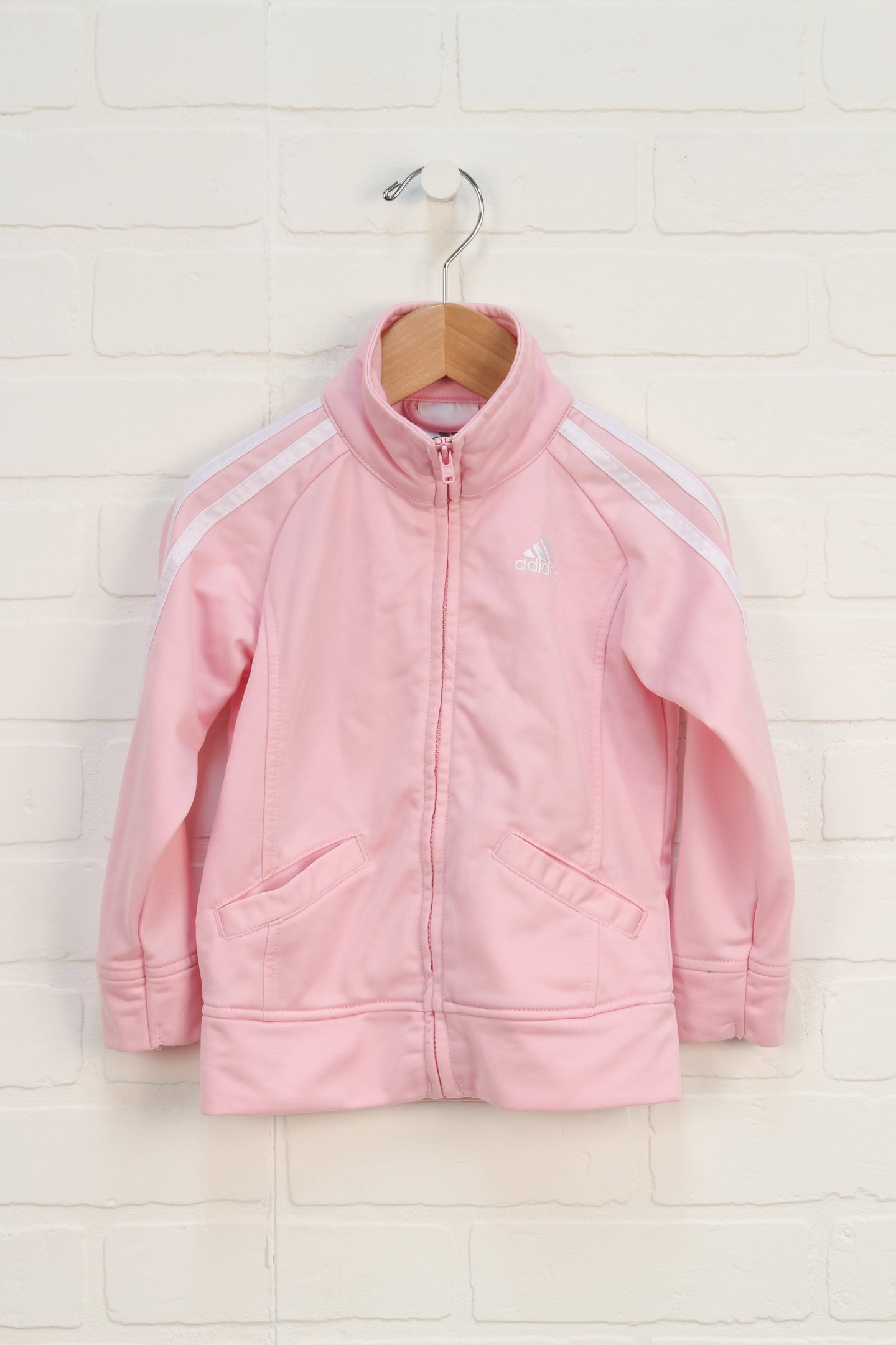 PInk + White Athletic Jacket (Size 2T)