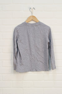 Heathered Grey Graphic T-Shirt (Size 6)