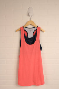 Fluorescent Pink + Navy Athletic Tank (Women's Size S)