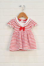 Organic Red + White Striped Nautical Onesie Dress (Size 62/2-4M)