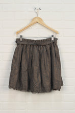 Putty + Gold Paperbag Skirt (Size XL/12)