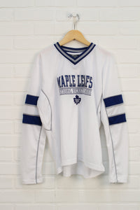 White + Blue Jersey: Maple Leafs (Size L/14)