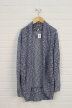 Blue + White Cocoon Cardigan (Women's Size S)