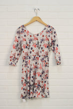White + Tomato Floral Dress (Size L/10-12)