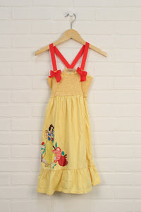 Yellow Embroidered Sundress: Snow White (Size 7-8)