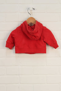 Red Graphic Hoodie (Size 0-3M)