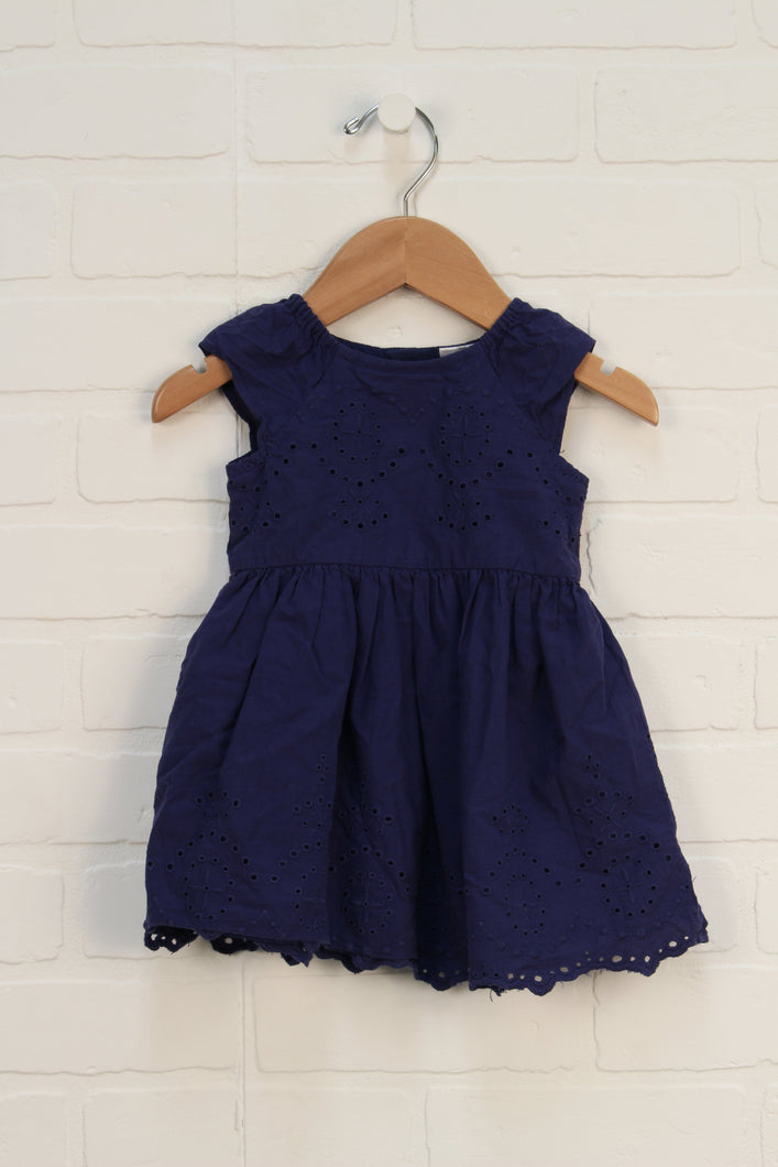 Navy Eyelet Lace Dress (Carter's Size 6M)