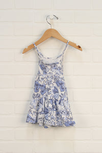 White + Blue Graphic Sundress (Size 12-18M)