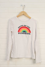 White Graphic T-Shirt: Rainbow (Size XL/12-13)