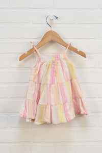 Multi Stripe Tent Dress (Size 3-6M)