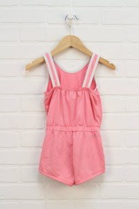 Hot PInk + White Athletic Romper (Size 3-4)