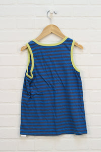 Blue + Yellow Striped Tank (Size M/7-8)