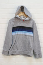 Heathered Grey + Blue Hoodie (Size M/8)