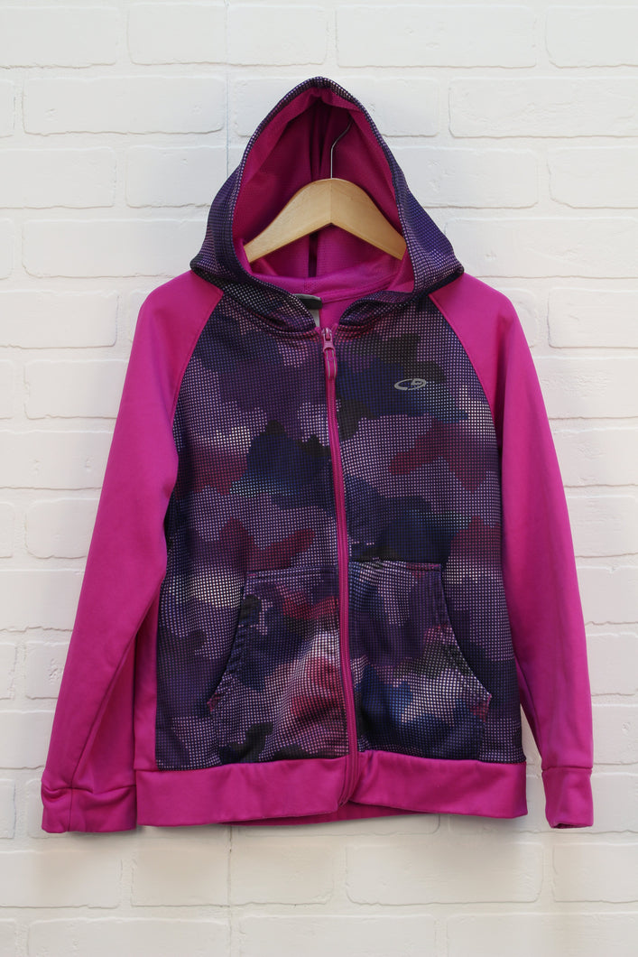 Magenta Athletic Fleece Lined Jacket (Size L/10-12)