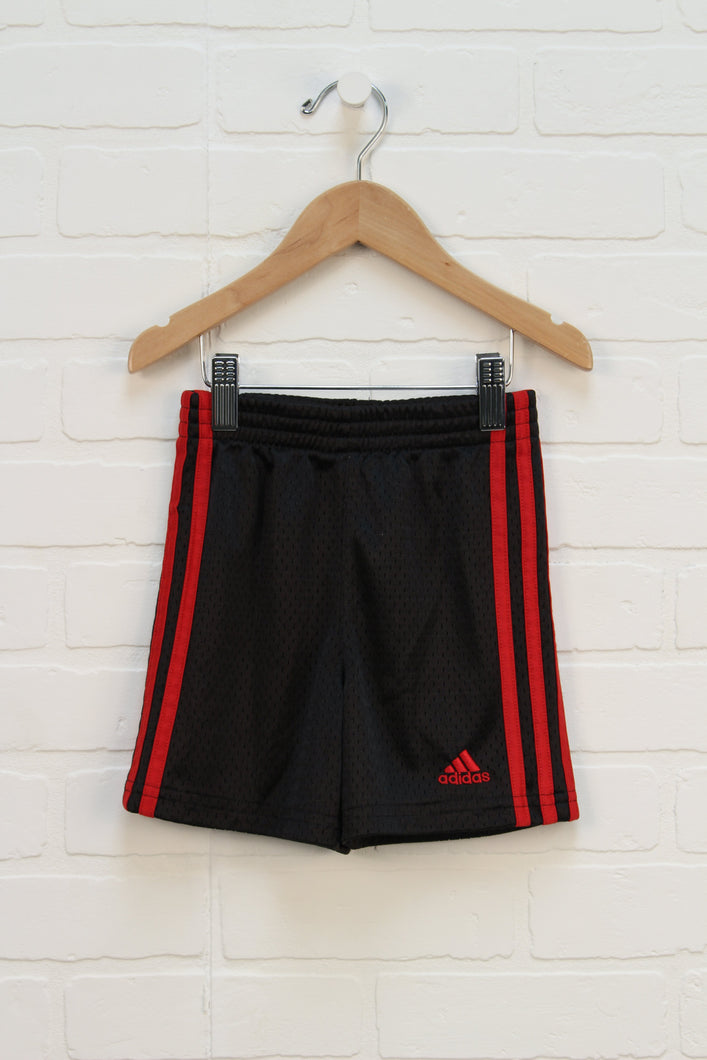 Black + Red Athletic Shorts (Size 2T)
