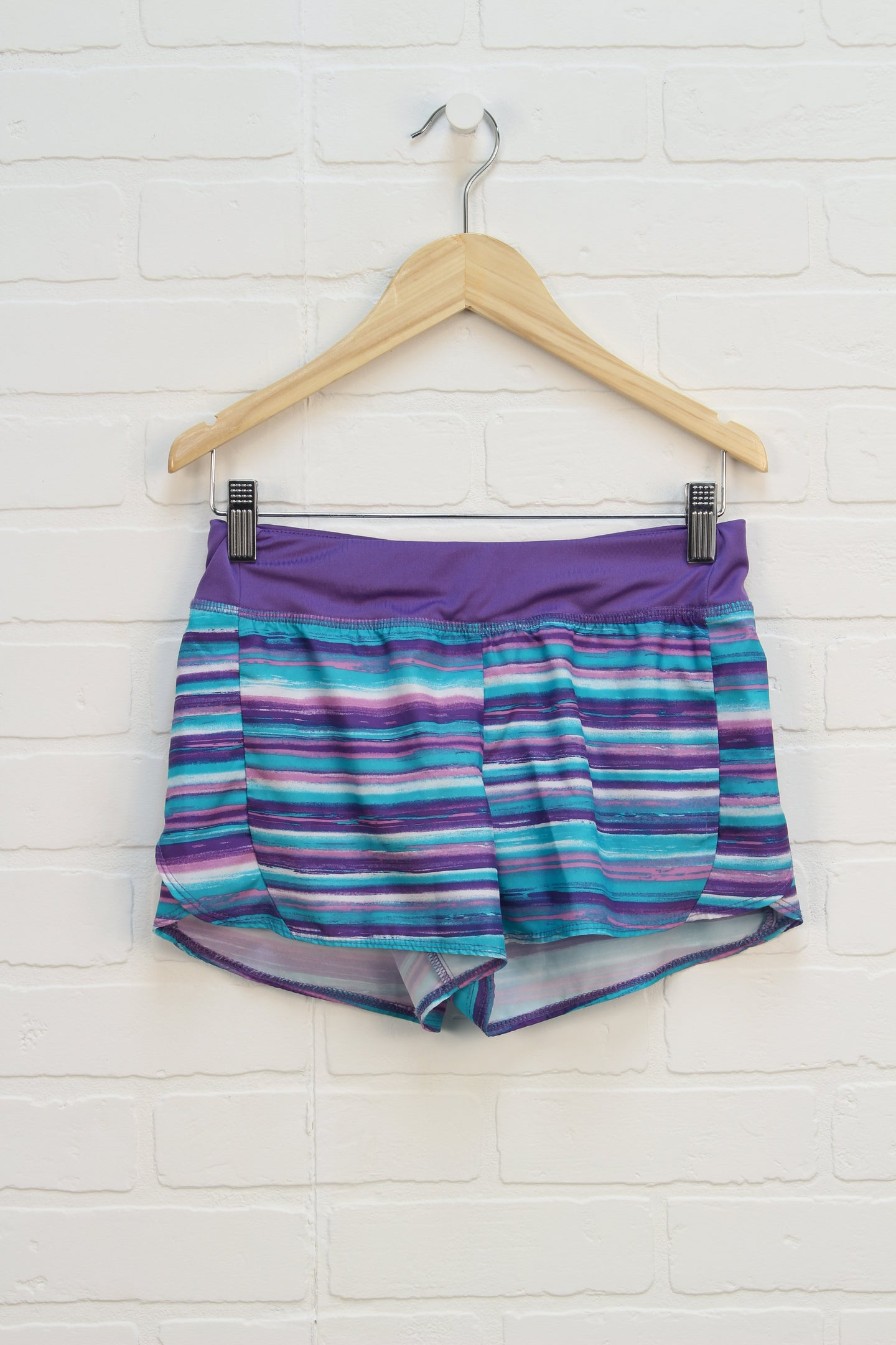 Purple + Turquoise Striped