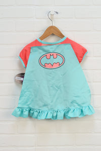 NWT Turquoise + Coral Graphic Top: Batman (Size 4T)