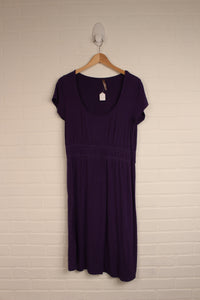 Purple Maternity Dress (Maternity Size M)