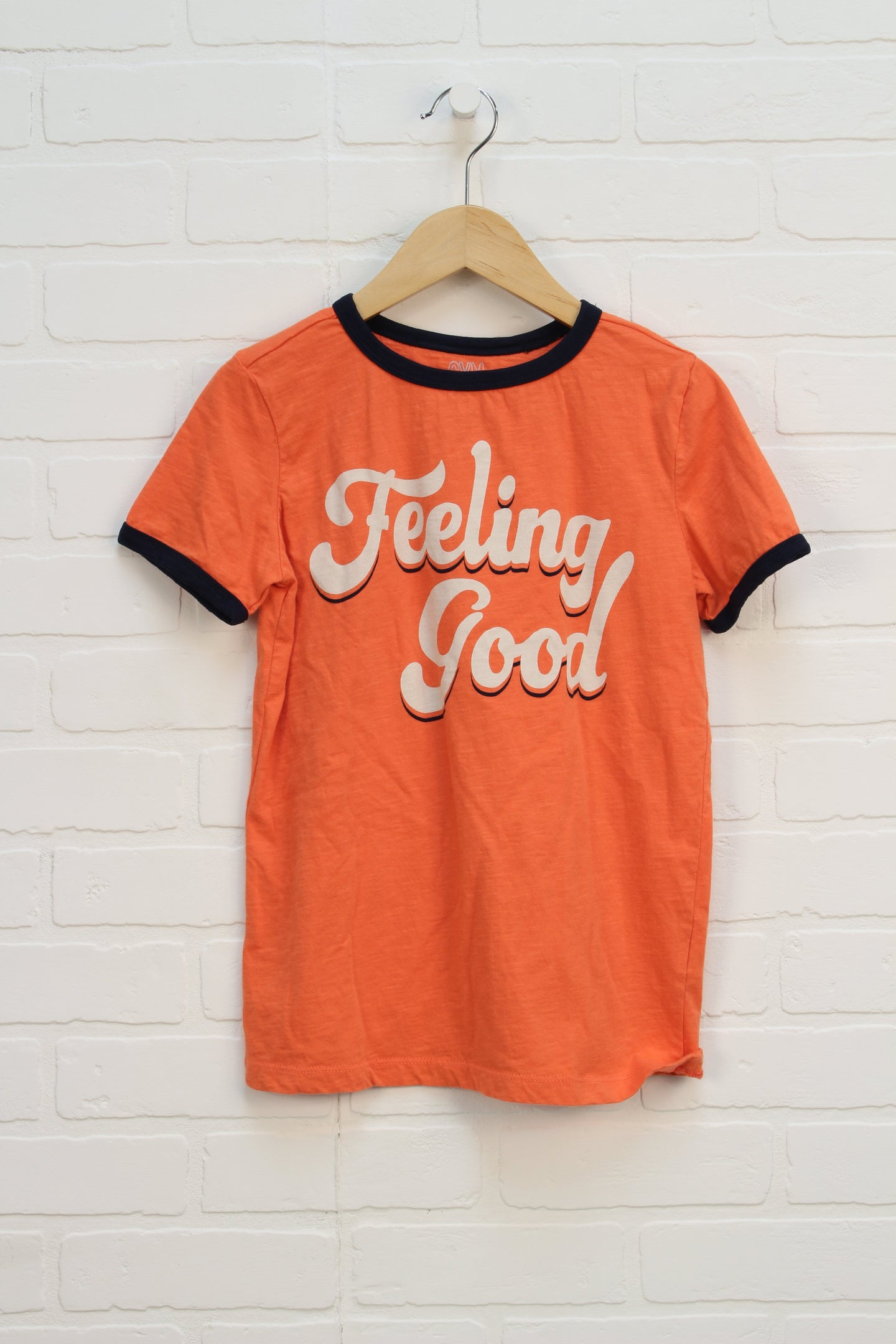 Orange Graphic T-Shirt (Size M/7-8)