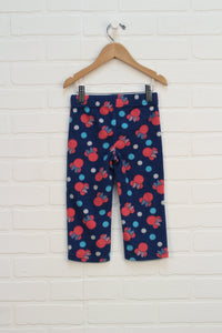 Blue + Raspberry Graphic Fleece Pants: Minnie Mouse (Size 2)