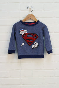 Heathered Blue Graphic Sweatshirt (Size 12-18M)