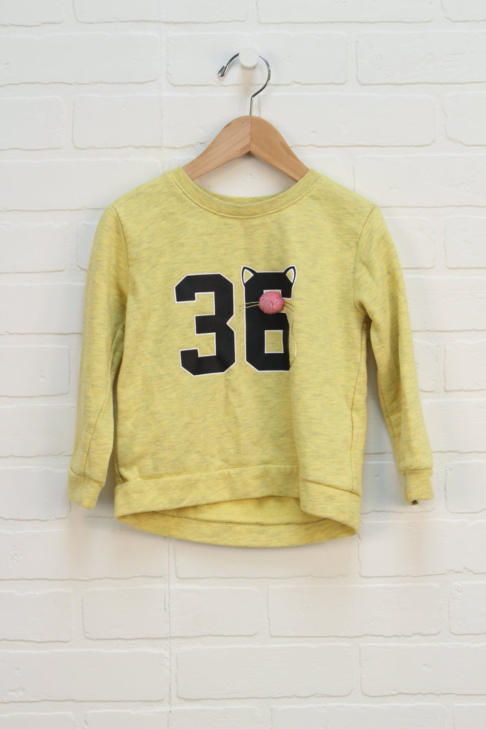 Heathered Yellow Sweatshirt (Size 2-4)