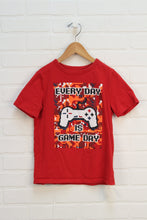 Red Graphic T-Shirt: Video Games (Size S/6-7)
