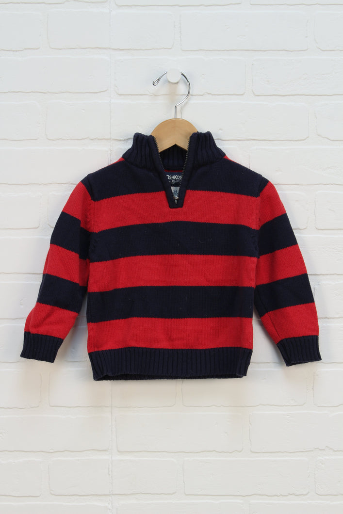 Navy + Red Sweater (Size 24M)