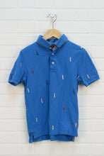 Blue Embroidered Polo (Size M/8-10)