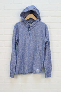 Heathered Blue Hooded Top (Size 10-12)