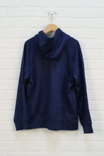 Heathered Blue Fleece Lined Hoodie (Size L/10-12)