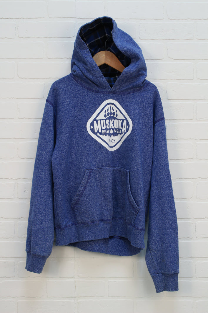 Heathered Blue Graphic Hoodie (Size L/10-12)
